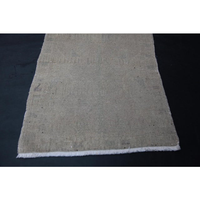 """Wonderful Muted Color Rug - 1'10"""" x 3'5"""" For Sale - Image 4 of 8"""
