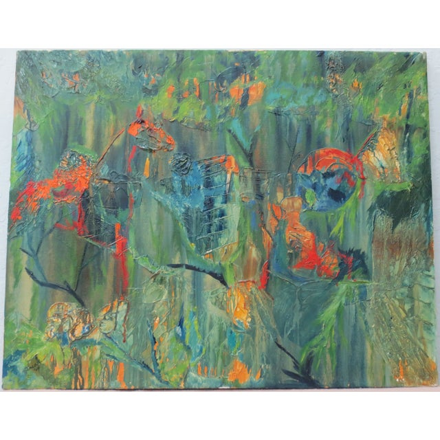 Jackie Johnson Vintage 1960's Abstract Painting - Image 2 of 5