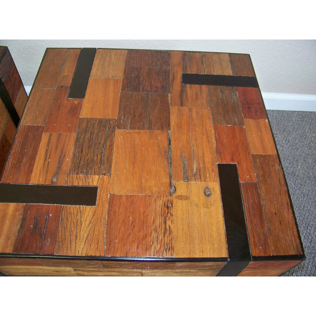 Reclaimed Wood End Tables - A Pair - Image 5 of 6
