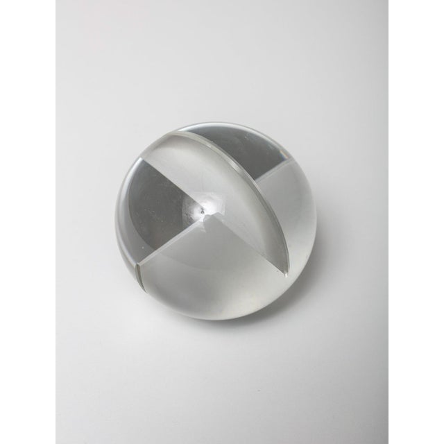 1960s Glass Spherical Sculpture by Floris Meydam for Leerdam For Sale - Image 5 of 8