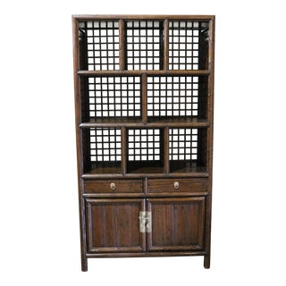 Late 19th Century Elm Book Case For Sale
