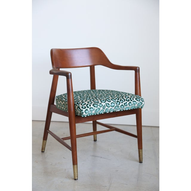 Mid-Century Modern Armchair in New Animal Print - Image 2 of 5