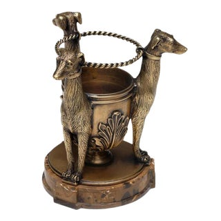 Scarborough House Brass Dogs Penholder For Sale