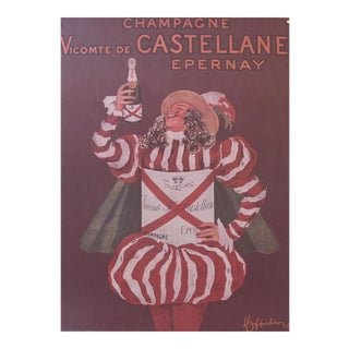 1980's French Champagne Poster, Champagne Vicomte De Castellane Epernay (Reproduction), by Cappiello For Sale