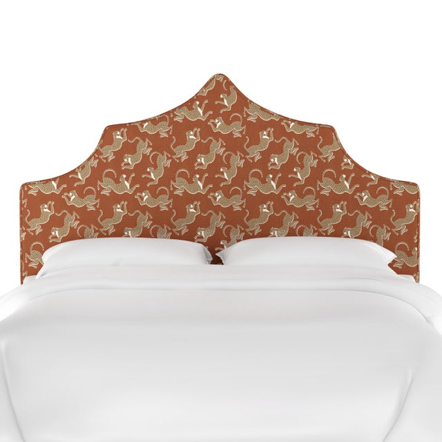 Add an eye-catching new focal point to your bedroom with this alluring upholstered headboard. Features a distinctively...