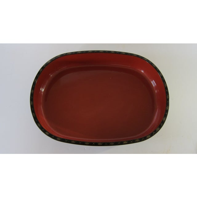 Japanese Lacquer Serving Tray - Image 3 of 6