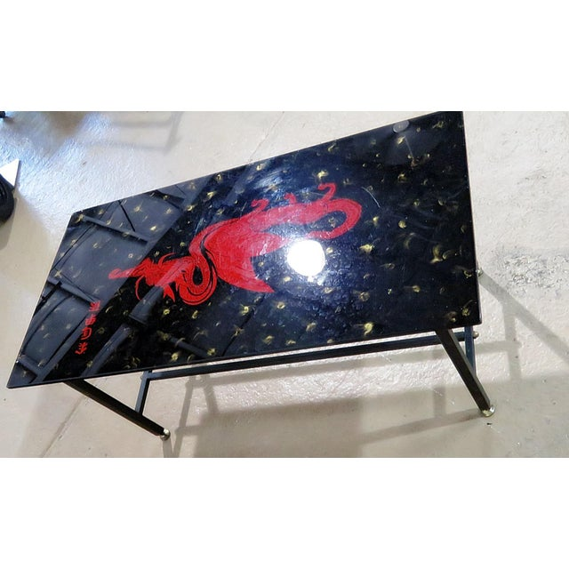 Brass Mid Century Oriental Coffee Table For Sale - Image 7 of 8