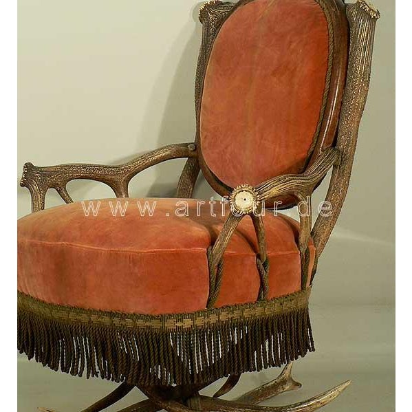 Late 19th Century Antler Easy Chair Austria Ca. 1880 For Sale - Image 5 of 6
