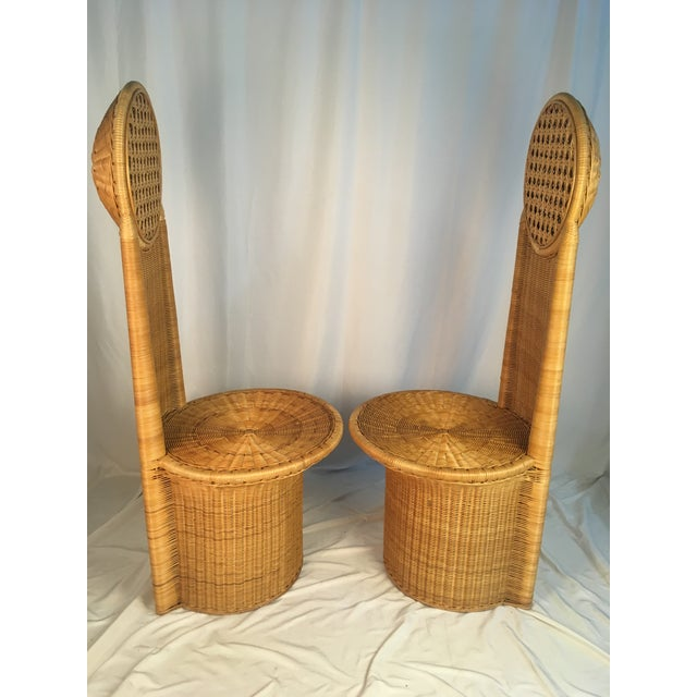 1980s Vintage Rattan Chairs - a Pair For Sale - Image 9 of 12