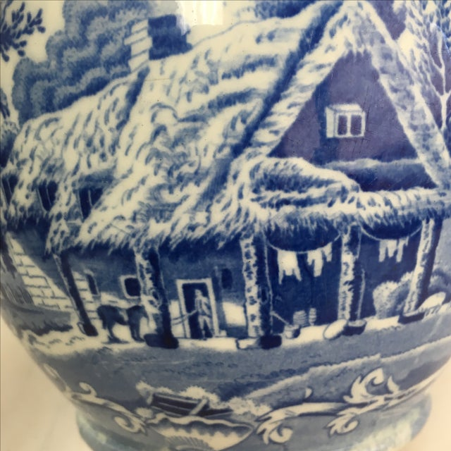 Antique 19th C. English Blue Transferware Pitcher - Image 5 of 8