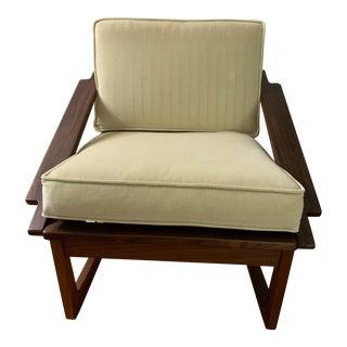 1960s Juul Kristensen Jk Denmark Solid Teak Rocker Chair For Sale