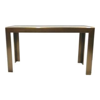 Vintage MCM Parsons Style Console Table For Sale