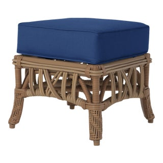 Viscaya Ottoman in Pacific Blue For Sale