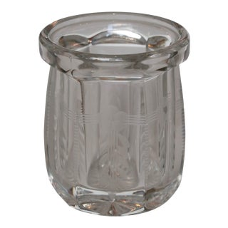 Flower Etched Jar For Sale