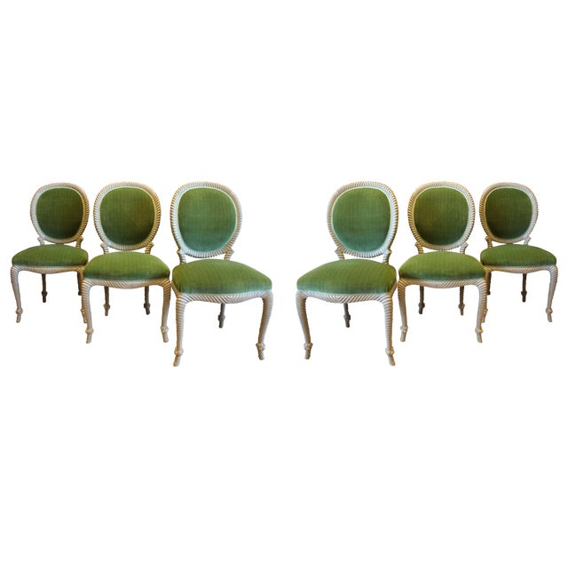 Mid-Century Rope Chairs - Set of 6 For Sale