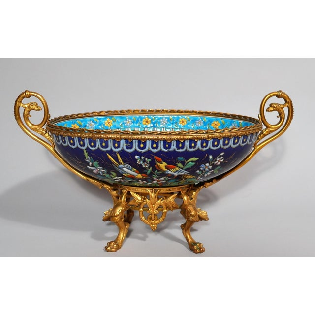 Antique French Majolica Longwy Pottery Jardiniere circa 1890-1900 For Sale In New Orleans - Image 6 of 6
