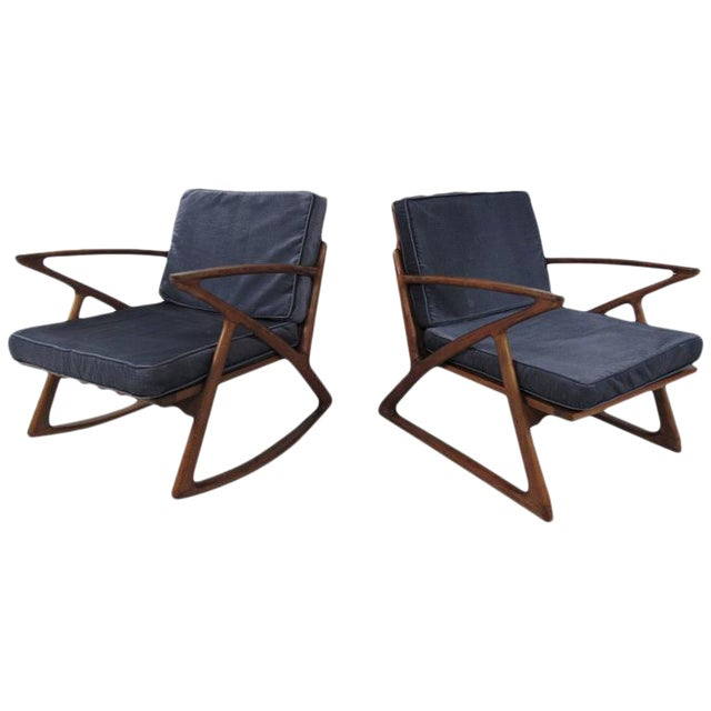 Poul Jensen Z Style Sculpted Lounge Chairs - a Pair For Sale