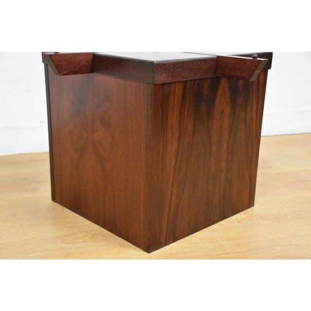 Mid-Century Rosewood & Glass Danish Coffee Table - Image 7 of 10