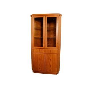 1970s Vintage Skovby Teak Corner Cabinet For Sale