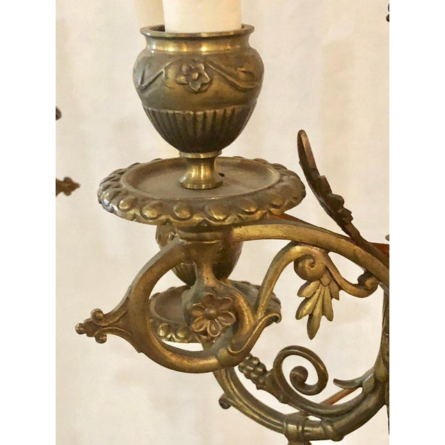 A Pair of 19th Century Neoclassical Style Figural Bronze Candelabras For Sale - Image 9 of 12