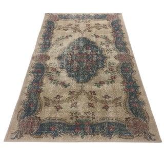 Distressed Vintage Turkish Carpet | 3'9 X 6'7