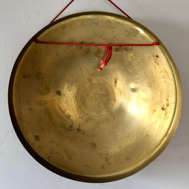 Vintage Chinese Brass Dragon Gong For Sale In Buffalo - Image 6 of 7