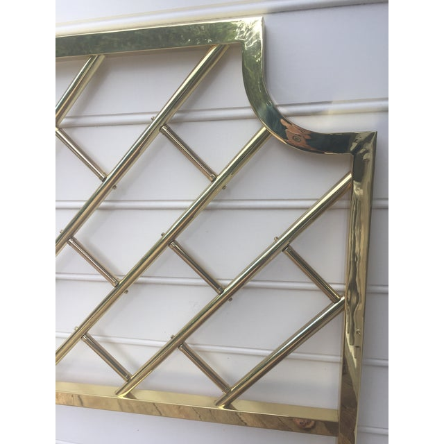 Chippendale Style Brass King Headboard For Sale - Image 5 of 9