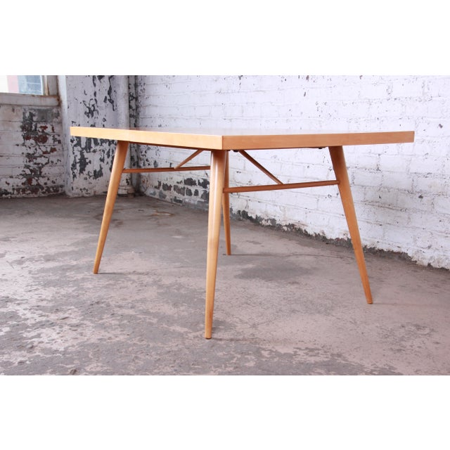 Brown 1950s Paul McCobb Planner Group Maple Extension Dining Table For Sale - Image 8 of 13