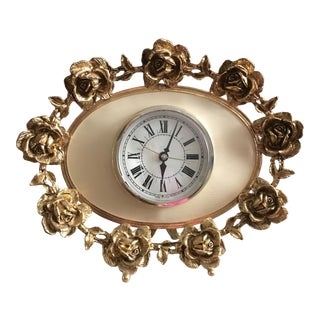 Mid-Century Hollywood Regency Electric Clock For Sale