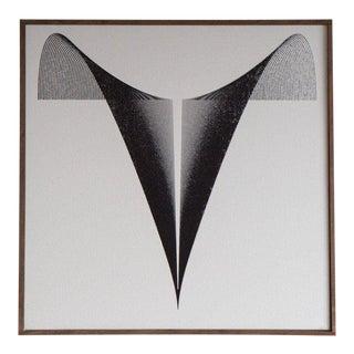Modern Black & White Needlepoint Artwork For Sale