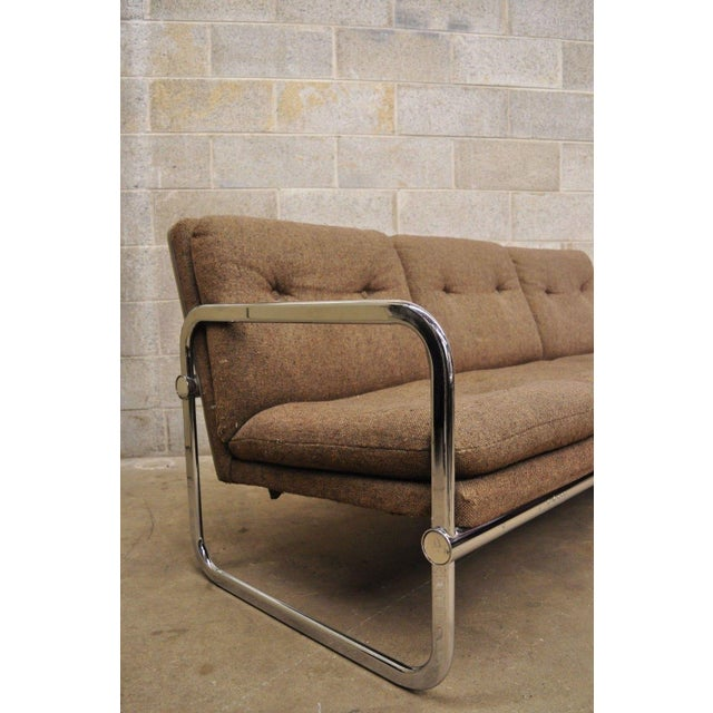 Milo Baughman Style Sofa by United Chair For Sale - Image 4 of 12