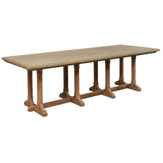 Vintage Anglo-Indian Trestle Dining Table For Sale