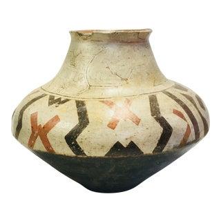 Large Hand Painted Peruvian Shipibo Pottery Vessel