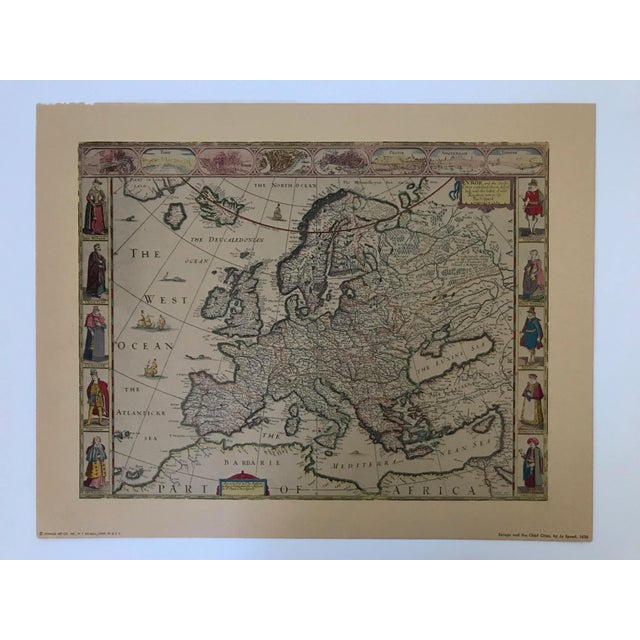 Mid 20th Century Vintage Framed Maps 1589-1670 by Speed, Ortelius, Hondius & Jansson For Sale - Image 5 of 7