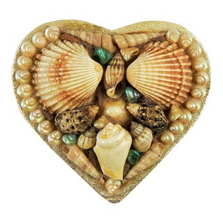 French Heart Shaped Shell Box For Sale