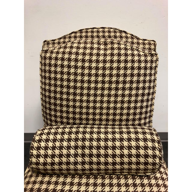 Fabric Theodore Alexander Althorp Living History Herringbone Slipper Chairs For Sale - Image 7 of 13