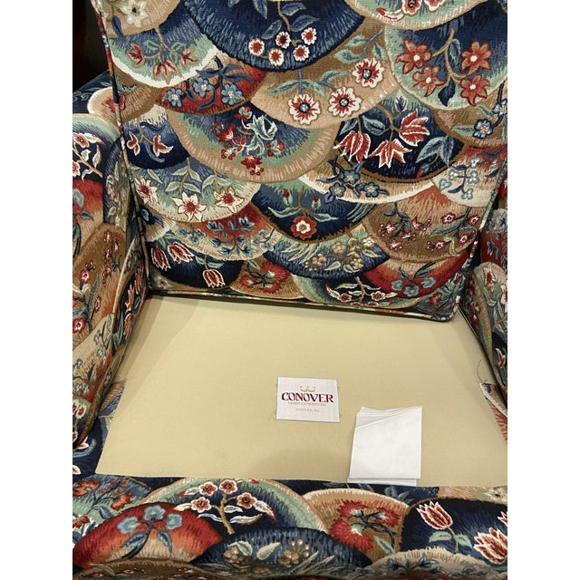 1990s Vintage Patterned Club Chair For Sale - Image 9 of 11