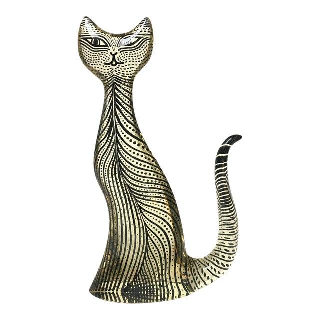 1970s Figurative Abraham Palatnik Op Art Lucite Cat Figure For Sale