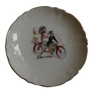 19th Century Belle Epoque 'Take It Easy' Trinket Tray For Sale