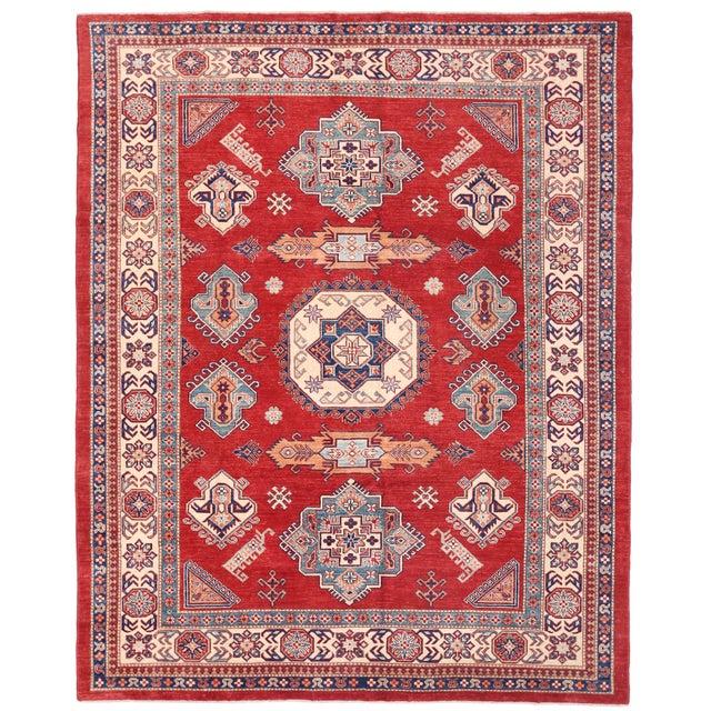 "Pasargad Kazak Wool Rug- 8' 3"" X 10' 2"" For Sale"