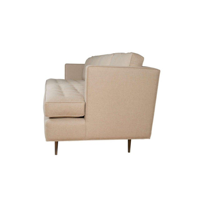 Mn Originals tufted sofa with 4 loose down filled back cushions. Extra deep seating cushions make for maximum comfort as...