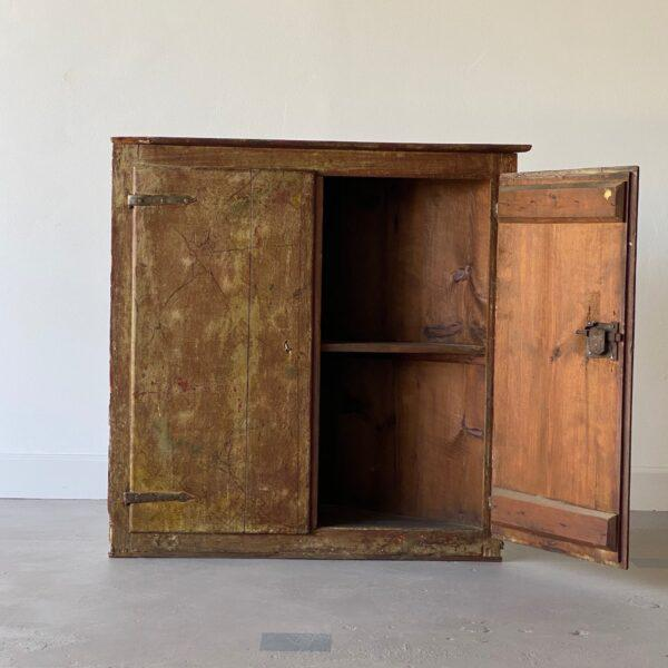 Brown 19th Century Painted Corner Cabinet For Sale - Image 8 of 10