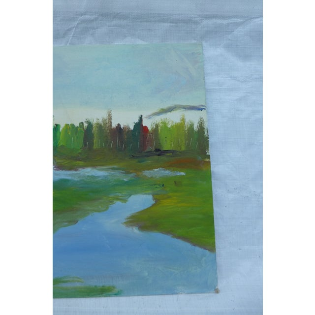 H.L. Musgrave Mid-Century River Painting - Image 5 of 6