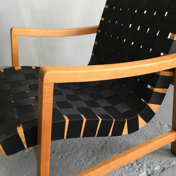 Jens Risom Webbed Lounge Chair - Image 5 of 6