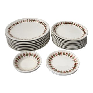 Captain's Table by Syracuse China Dish Set - 21 Pieces For Sale