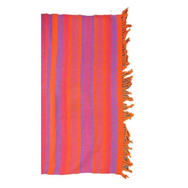 "Orange & Pink Woven Rug- 3'4"" X 6' - Image 2 of 7"
