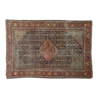 Early 20th Century Antique Persian Mahal Rug - 4′6″ × 6′8″ For Sale