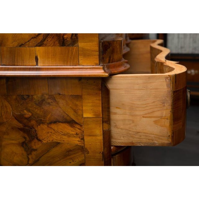 Late 19th Century 19th Century Italian Rococo Burl Walnut Slant Front Desk For Sale - Image 5 of 8