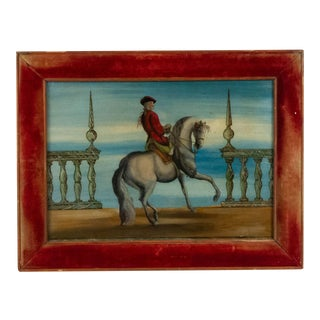 English Red Coat Rider Painting For Sale