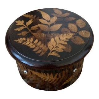 Mid 19th Century Antique Scottish Fern Spool Box For Sale